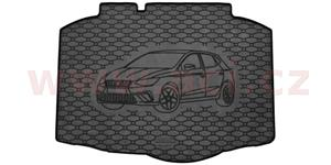 rubber trunk mat of luggage boot with car ilustration