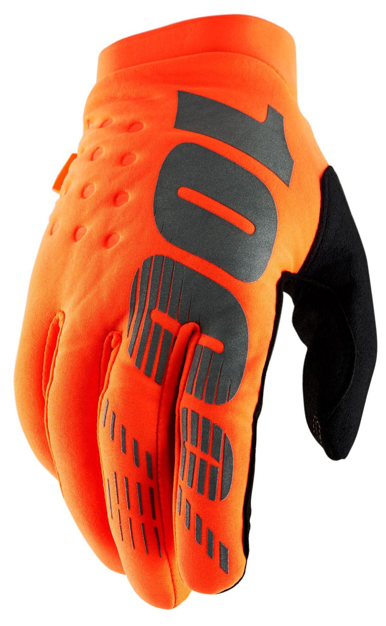 rukavice BRISKER, 100% (fluo orange/black)