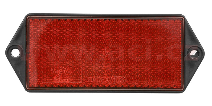 universal reflector rectangle, with holder to be fixed by 2 screws, red (127*51 mm) TRUCK