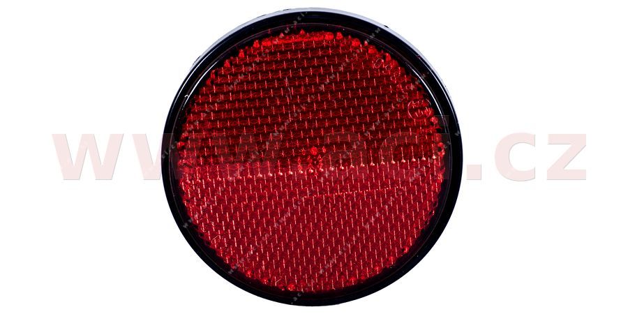 universal reflector round, with screw fixed in holder, red (diameter 80 mm) TRUCK